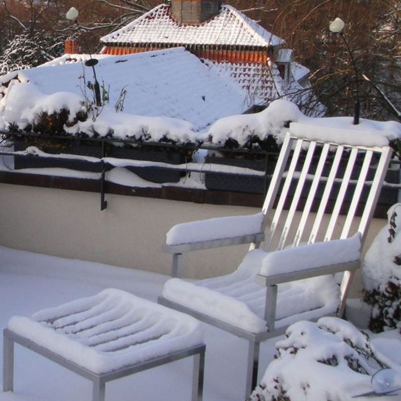 Gartenmoebel aus Edelstahl: Sitzmoebel, Hochlehner.