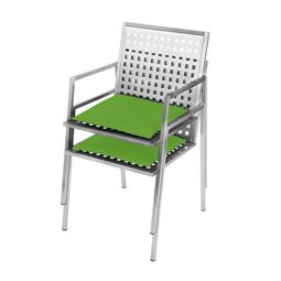 Edler Designer-Stuhl für den Garten aus Edelstahl im Design von Lizzy Heinen.