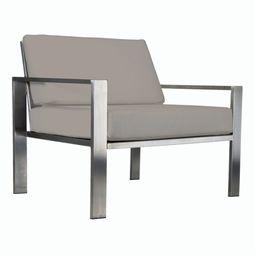 Stilvoller Designer-Sessel für den Garten aus Edelstahl im zeitlosen Design von Lizzy Heinen.