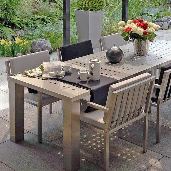 Gartenmöbel Set, Gartenmöbel-Garnitur, Edelstalt Gartengarnitur, Gartenset