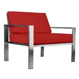 Edler Designer-Sessel für den Garten aus Edelstahl im zeitlosen Design von Lizzy Heinen.
