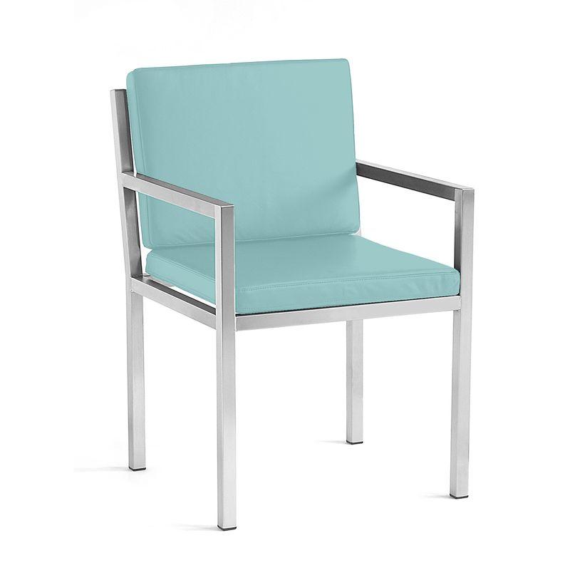 Stuhl aus Edelstahl für den Garten, das Haus und das Wohnzimmer im eleganten Bauhausstil von Lizzy Heinen.