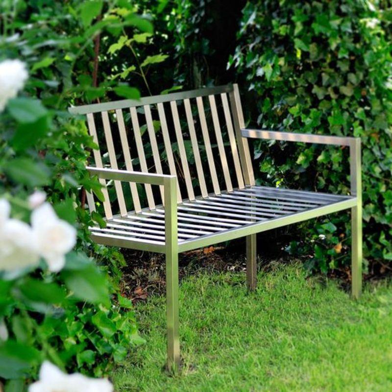 Edelstahldesign Outdoor Garten-Sitzbank