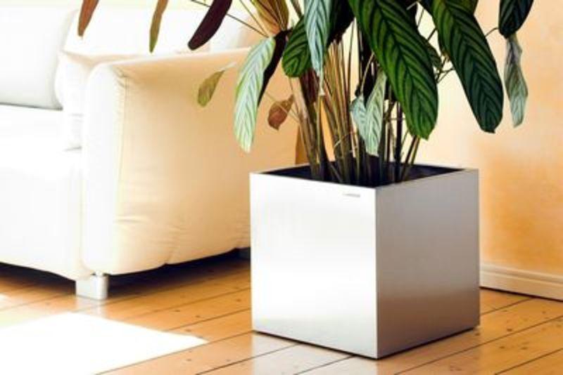 Design Edelstahlmöbel Bodenvase von Lizzy Heinen