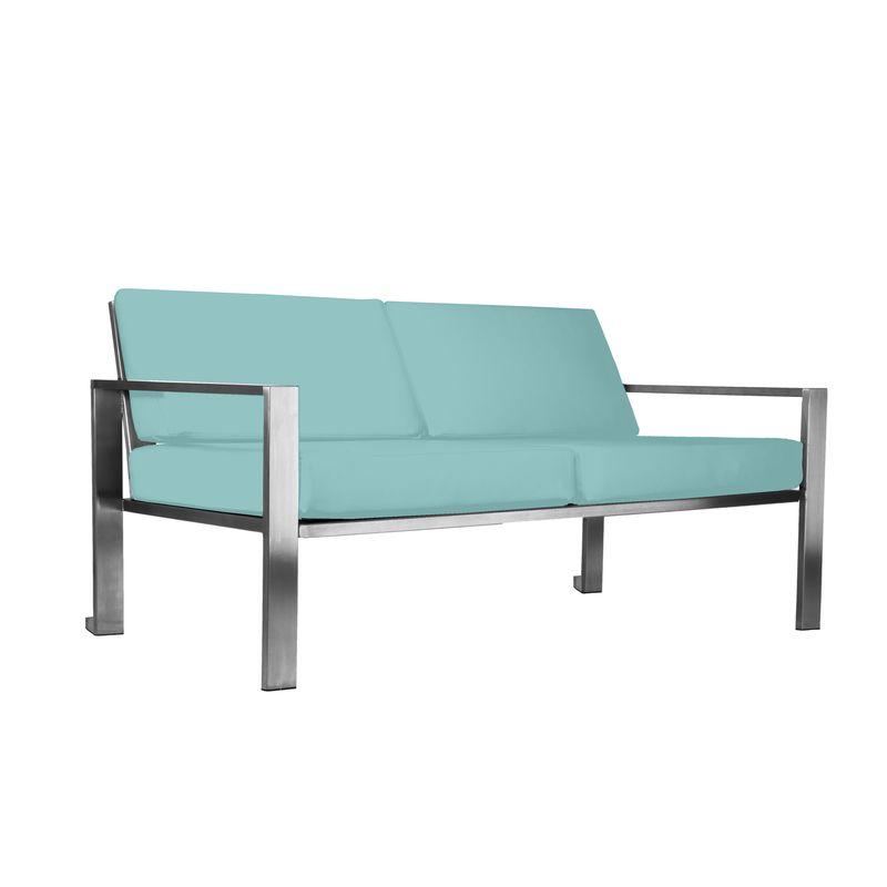 Edles Designer-Sofa für den Garten aus Edelstahl im stilvollen Design von Lizzy Heinen.