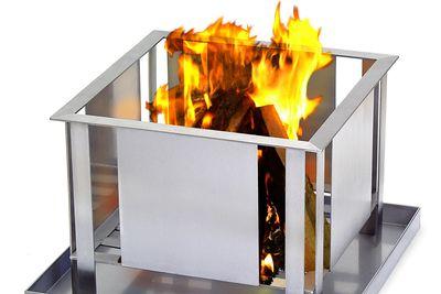 Feuerstelle aus Edelstahl von Lizzy Heinen Design