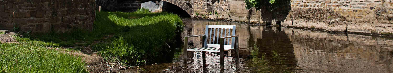 Edelstahl-Stuhl von Lizzy Heinen.