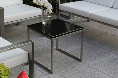 Edelstahl Beistelltisch Granitplatte Design Lizzy Heinen
