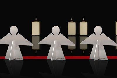 Engel aus Edelstahl Deko Lizzy Heinen