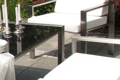 Edelstahlesstisch Design Lizzy Heinen