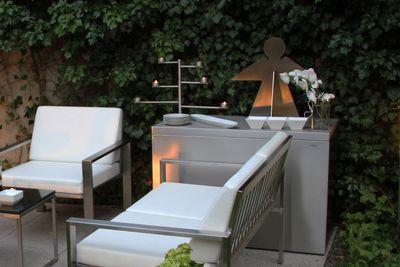 Edelstahlpolsterbox von Lizzy Heinen Design