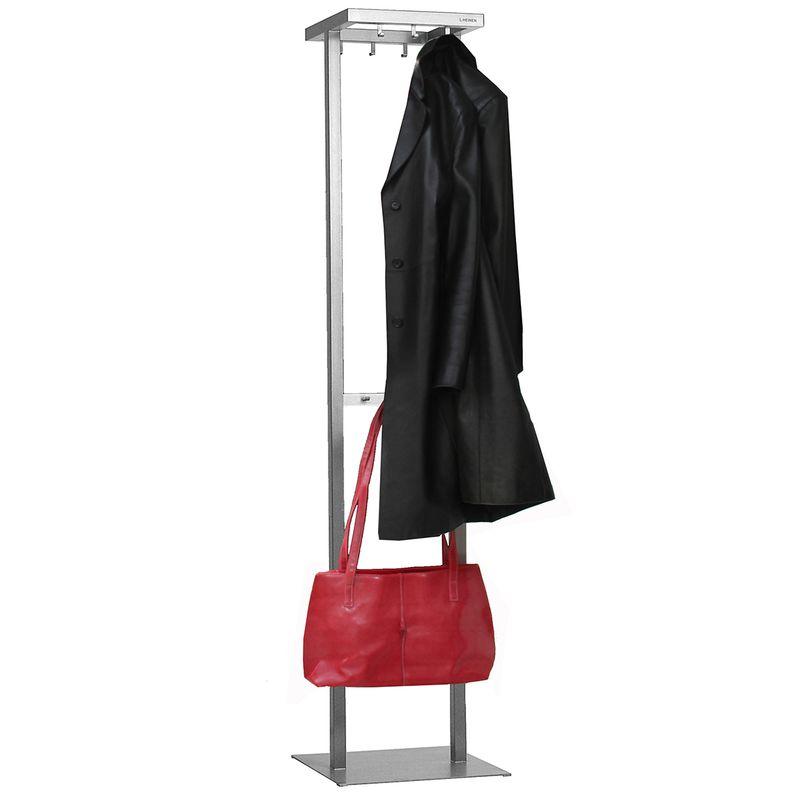 Elegante Edelstahl Garderobe von Lizzy Heinen im Bauhausstil.