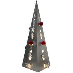Edelstahlpyramide von Lizzy Heinen im Bauhausdesign.