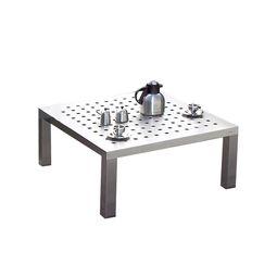 Edler Lounge-Beistelltisch aus Edelstahl im Bauhausstil im Design von Lizzy Heinen.