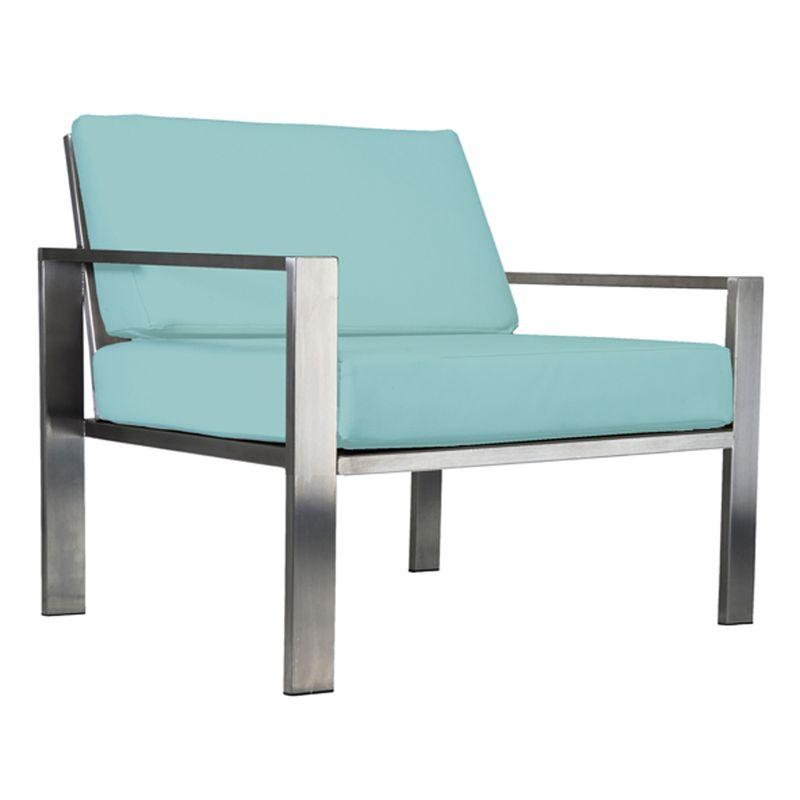 Designer-Sessel für den Garten aus Edelstahl im zeitlosen Design von Lizzy Heinen.