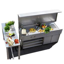 Edelstahl Küche im Design von Lizzy Heinen im Bauhausstil.