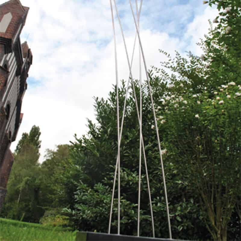 Garten-Dekoration aus Edelstahl