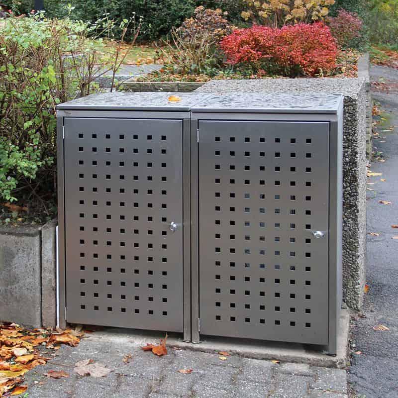 Muellbox aus Edelstahl