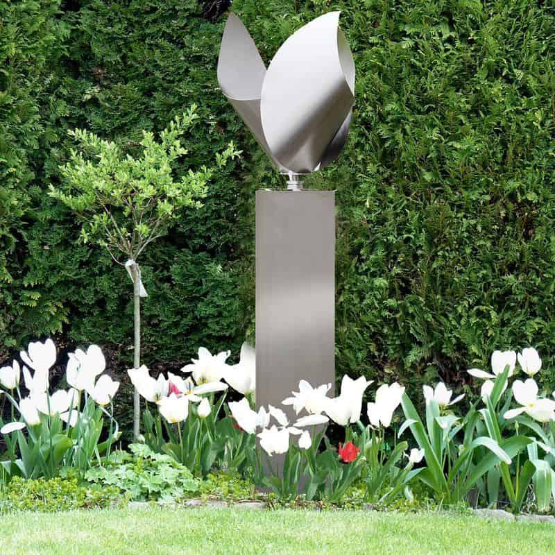 Windspiel aus Edelstahl für den Garten