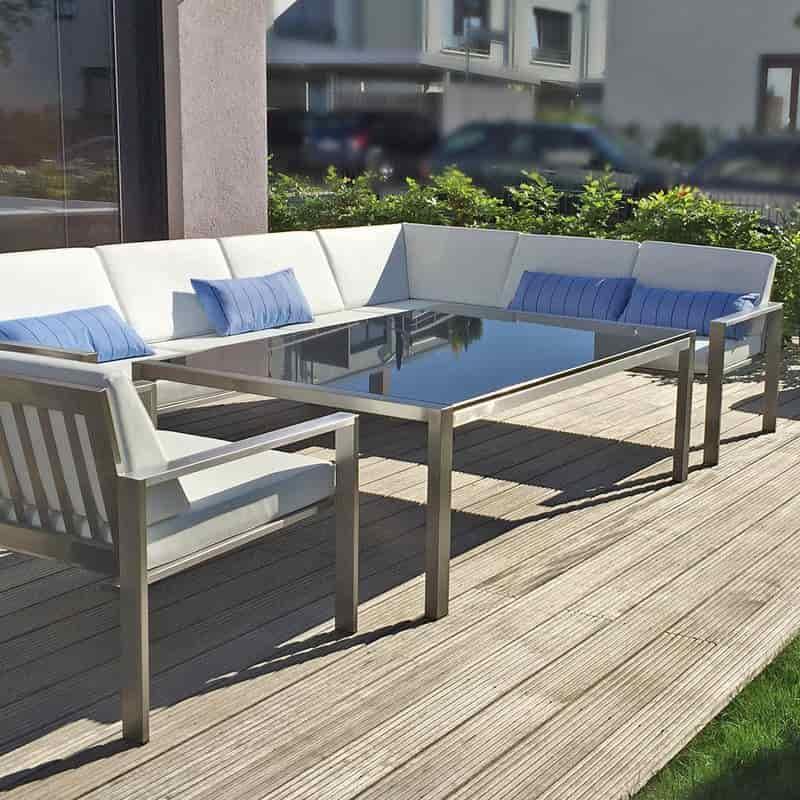 Design Edelstahlmögel Loungegruppe Lizzy Heinen